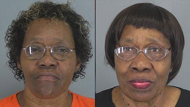 Myrtle Smith (left) and Mary Wannamaker. (Spartanburg Co. Detention Center)