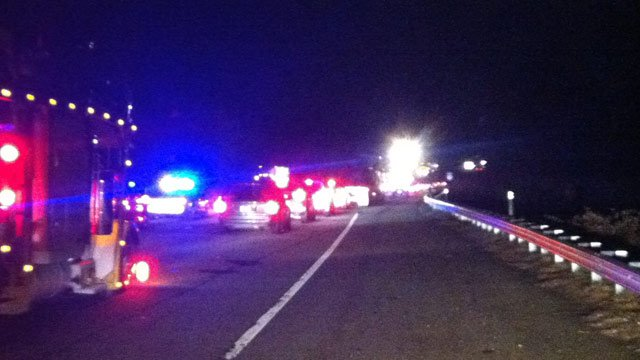 Traffic was snarled along I-85 after crash near mile marker 65 in Spartanburg County. (Dec. 6, 2012/FOX Carolina)