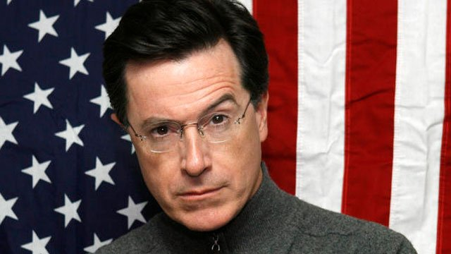 Comedian Stephen Colbert poses for a head shot. (AP Image)