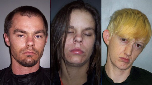 From left to right: Chad Stites, Amber Stites and Ashley Smith. (Laurens Co. Detention Center)