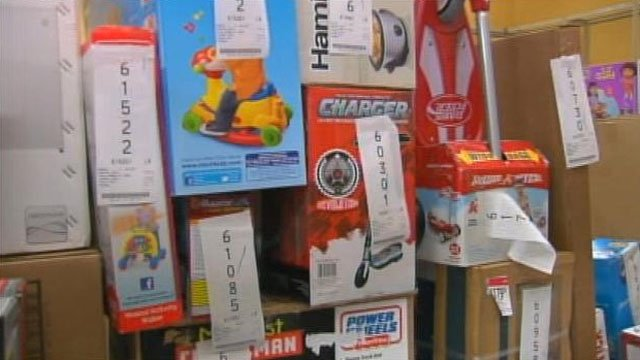 Toys and other items on layaway at the Kmart in Maudlin. (Dec. 10, 2012/FOX Carolina)