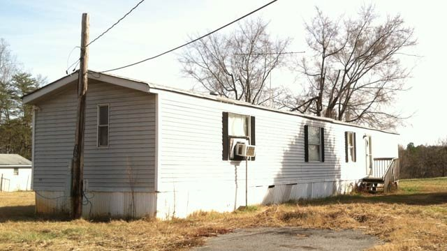 The Easley home where neighbors said the man was airlifted from Tuesday morning. (Dec. 11, 2012/FOX Carolina)