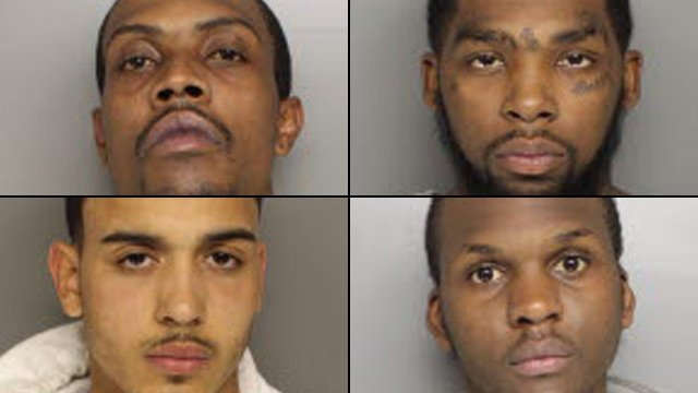From top-left to bottom-right: Travors Austin, Darrell Cunningham, Xavier Henderson and Ealwinne Richard. (Greenville Co. Detention Center)