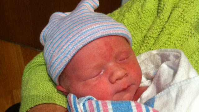 Newborn Rome Joseph Chandler is born on 12/12/12 in Greenville. (Courtesy Lindsay Chandler)