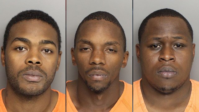 From left to right: Jack Jenkins Jr., James McGowan and Joshua Watson (Greenville Police Dept.)