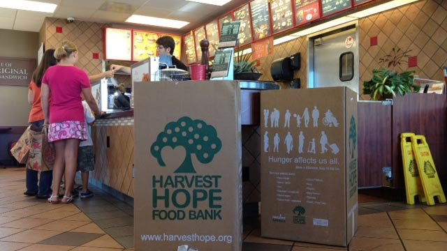 A Harvest Hope food drive is held at an Upstate Chick-fil-A restaurant. (File/FOX Carolina)