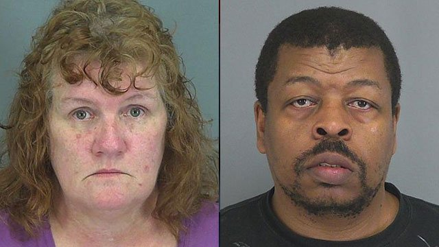 Rhonda McSwain (left) and Calvin Ross. (Spartanburg Co. Detention Center)