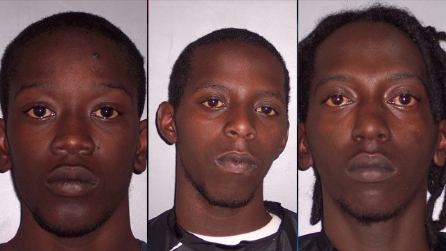 From left to right: Derrick Garlington, Isaiah Garlington and Timothy Garlington. (Laurens Co. Sheriff's Office)