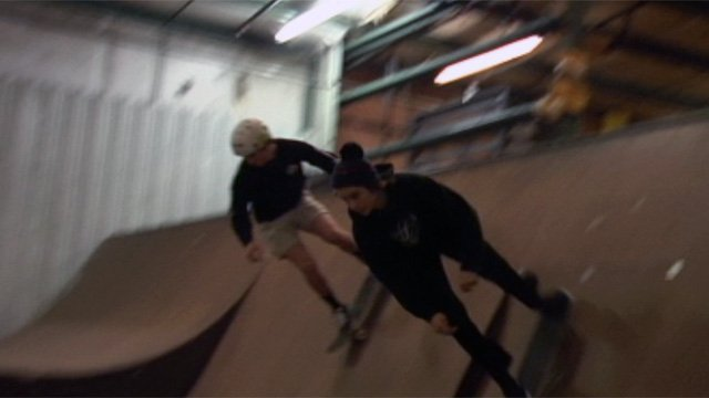 Skaters enjoy the last open day at No Name Skate Park in Greenville. (Dec. 20, 2012/FOX Carolina)