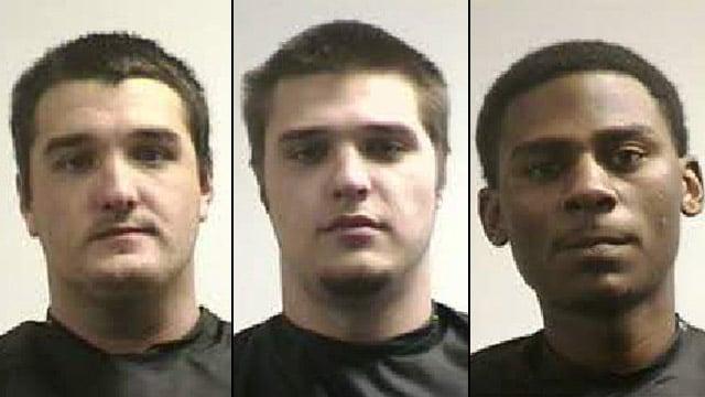From left to right: Jaron Dalton, Jordan Dalton and Bernard Ramsey. (Pickens Co. Sheriff's Office)