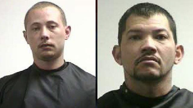 Danny Adams Jr. (left) and Charles Burgess. (Pickens Co. Sheriff's Office)