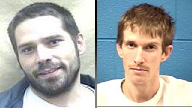 Robin Baldwin Jr. (left) and Brian Koontz. (Transylvania Co. Sheriff's Office)