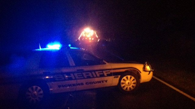 Deputies helped reroute traffic along SC 135 near the crash scene. (Jan. 2, 2013/FOX Carolina)