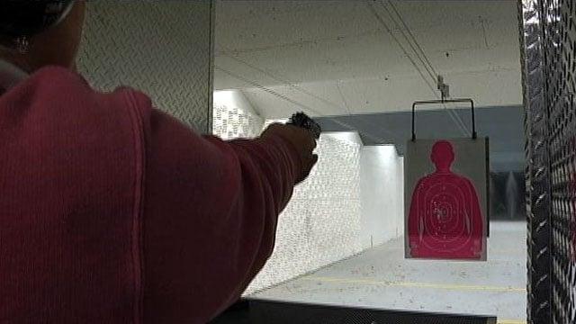 A shooter takes aim at a target at an Upstate firing range. (File/FOX Carolina)