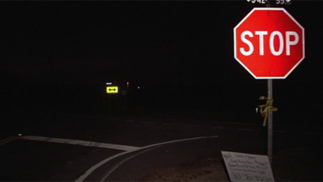 The intersection at Peachtree and Mountain View roads in Boiling Springs where deputies say the fight took place. (Jan. 2, 2013/FOX Carolina)