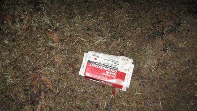 Some of the remains of the mobile meth lab deputies said was dumped in a Union yard. (Union Co. Sheriff's Office)