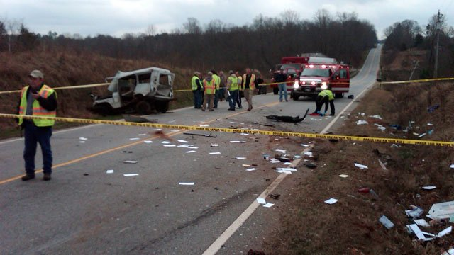 The wrecked mail truck and mail scattered across SC 59 in Westminster. (Jan. 3, 2013/Oconee Co. Emergency Services)