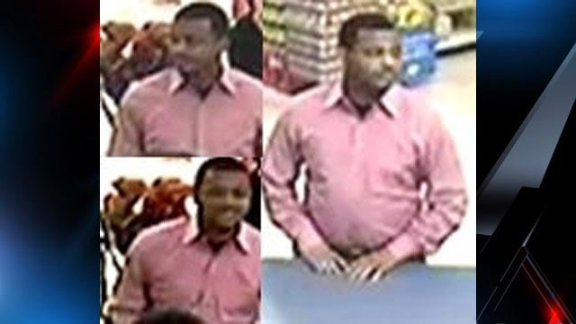 Bi-Lo store surveillance of the man deputies say tried to cash a forged check on Tuesday. (Jan. 7, 2013/Greenville Co. Sheriff's Office)