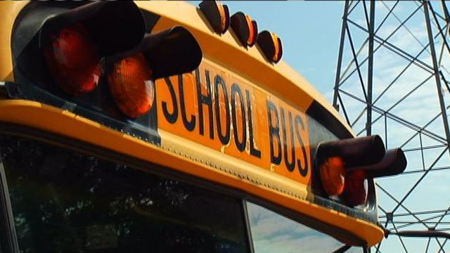 A school bus is seen parked in at a bus barn. (File/FOX Carolina)