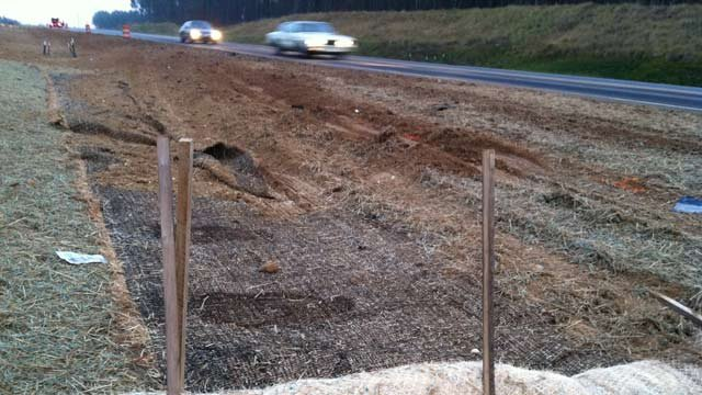 The area along US 221 in Rutherford County where the crash happened. (Jan. 10, 2013/FOX Carolina)