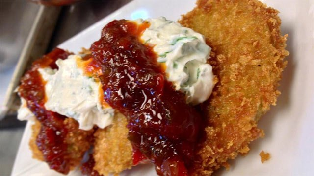 Fried green tomatoes are one of Greenville restaurant the Green Room's dishes offered for Restaurant Week. (Jan. 10, 2013/FOX Carolina)