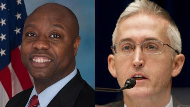 U.S. Sen. Tim Scott (left) and U.S. Rep. Trey Gowdy. (scott.house.gov &amp; gowdy.house.gov)