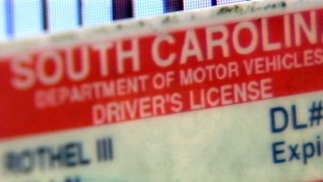 The top portion of a South Carolina driver's license is displayed. (File/FOX Carolina)