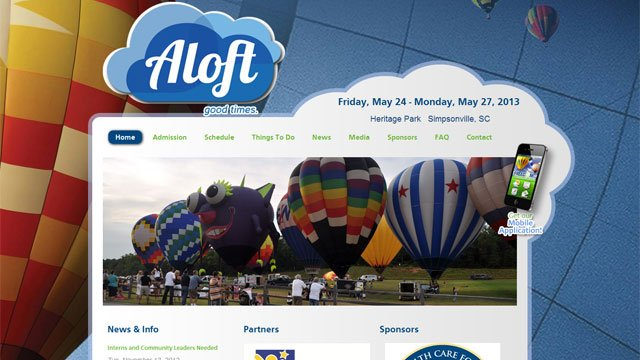 "The new logo of ""Aloft"" appears on the festival website. (freedomweekend.org)"