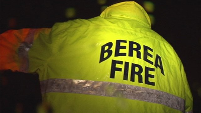 Downed trees and power lines kept the Berea Fire Department busy Thursday. (Jan. 17, 2013/FOX Carolina)