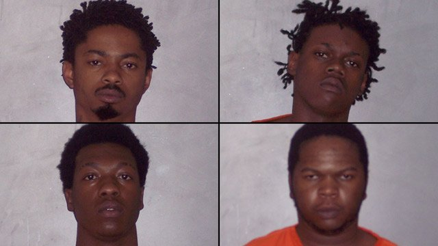 From top-left to bottom-right: Roderick Anderson, James Gilliam, Devante Pulley of Clinton and Rasham Walker. (Laurens Co. Sheriff's Office)