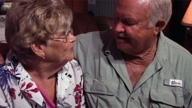 Jimmie Sue and Larry Swilling were surprised by outpour of support shown. (Sept. 4, 2012/FOX Carolina)