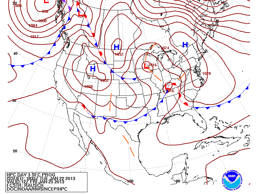 Surface map from HPC for Friday