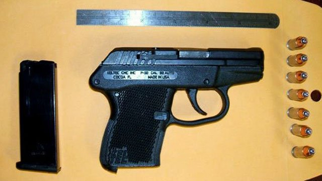 Authorities say this gun was found loaded in a passenger's carry-on bag at GSP. (Jan. 21, 2013/TSA)
