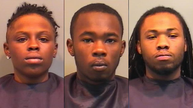 From left to right: Tierra Davis, Devonte Lytle and Rockeem Stevens. (Union Co. Sheriff's Office)