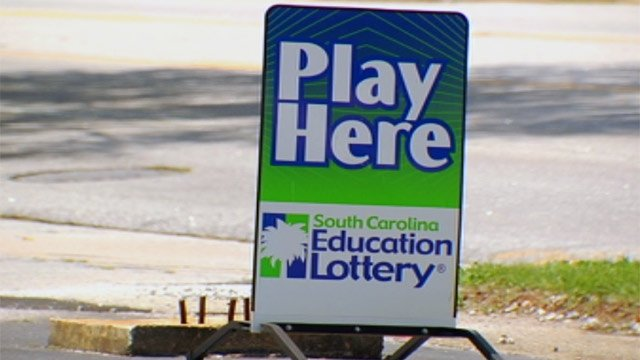 A South Carolina Education Lottery sign outside of an Upstate store where lottery tickets are sold. (File/FOX Carolina)