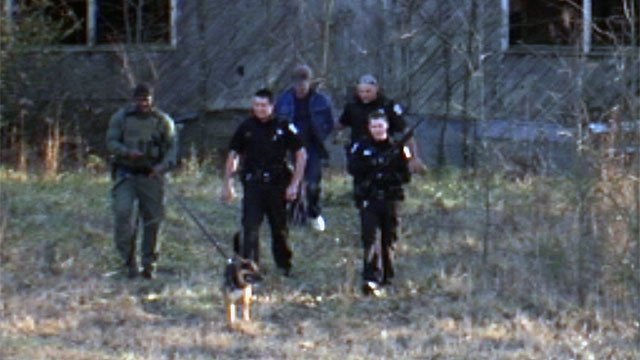 Deputies locate and take Thrasher into custody. (Jan. 27, 2013/FOX Carolina)