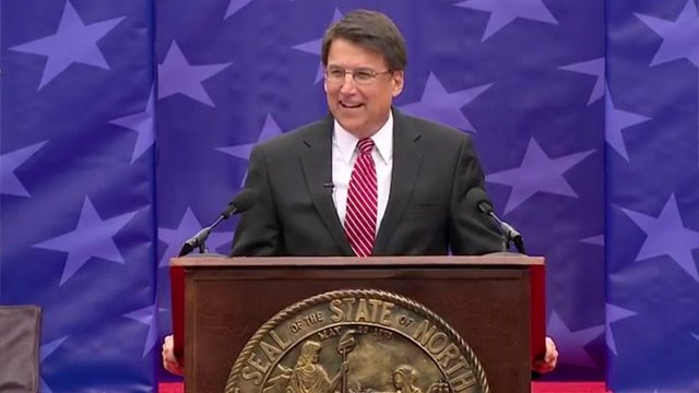 North Carolina Governor Pat McCrory gives his first inaugural address on Jan. 12, 2013. (governor.nc.gov)