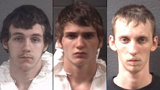 From left to right: Gavin Geisler, Brandon Allen and Chad Salvatto (Buncombe Co. Sheriff's Office)