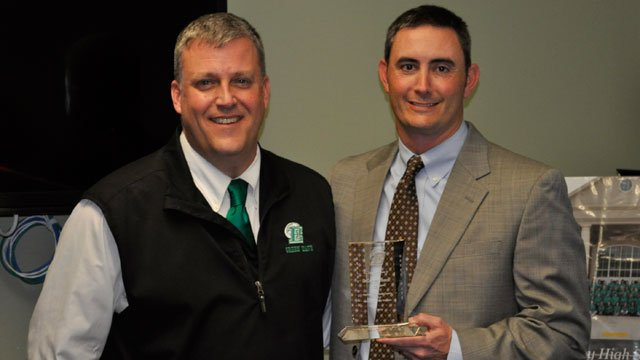 Chris Carter, EHS athletic director (left), and Grayson Howell. (School District of Pickens County)