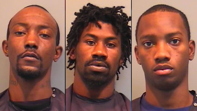 From left to right: Wendell Brannon, Latevin Brannon and Markese Gregory. (Union Co. Sheriff's Office)