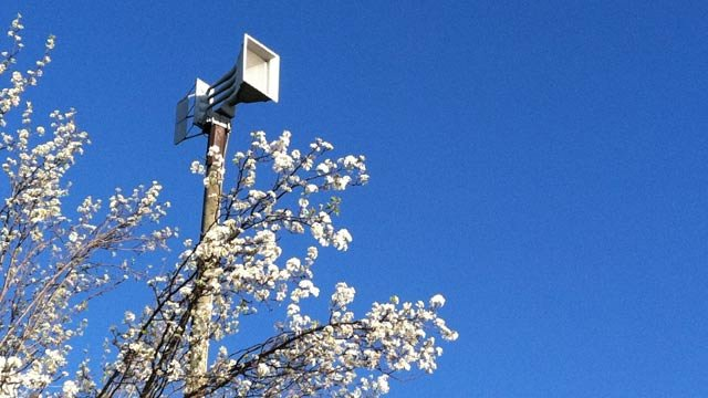 An Upstate tornado siren is used to warn residents of severe weather. (File/FOX Carolina)
