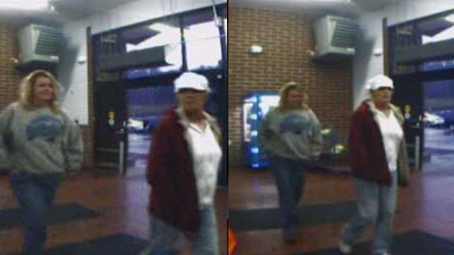 Surveillance photos of the women police say have used a stolen credit card in Fletcher, NC. (Fletcher Police Dept.)