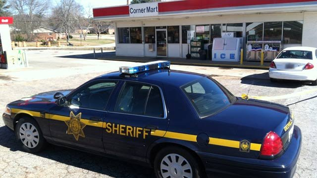 Deputies were investigating at the Citgo Corner Mart store at 8698 White Horse Rd. (Jan. 31, 2013/FOX Carolina)