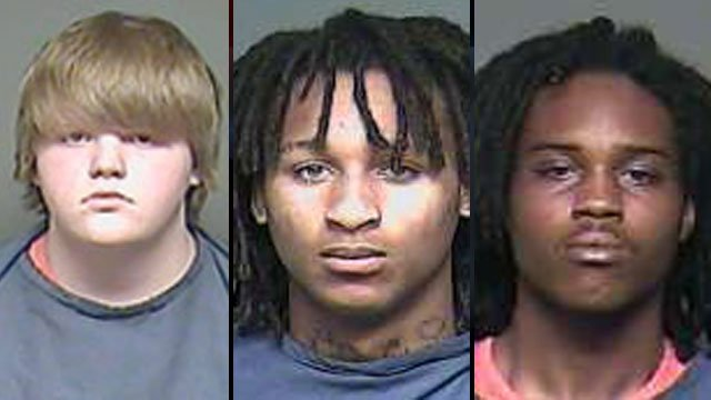 From left to right: Clayton Watts, Marquaes Buchanan and Shaiderius Cohen. (FOX Charlotte)