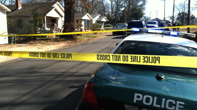 Police had Central Avenue blocked off in front of the man's Central Avenue home after his body was found Sunday morning. (Feb. 3, 2013/FOX Carolina)