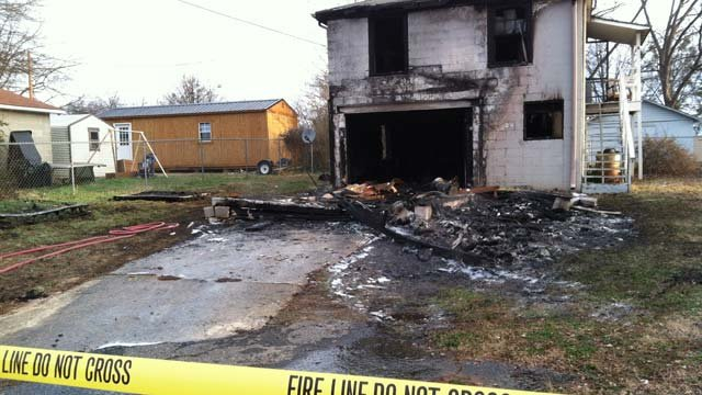 Fire gutted a home on Jennings Street in Spartanburg. (Feb. 4, 2013/FOX Carolina)