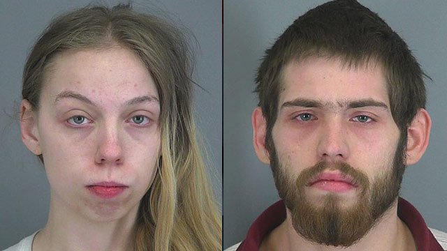 Jennifer Wanek (left) and Joshua Taylor. (Spartanburg Co. Sheriff's Office)