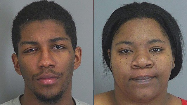 Tina Gary and Shaquille Marlowe (left). (Spartanburg Co. Detention Center)