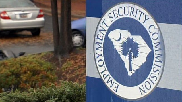 The sign outside an Upstate unemployment office bears the emblem of the Employment Security Commission - what DEW was previously called. (File/FOX Carolina)