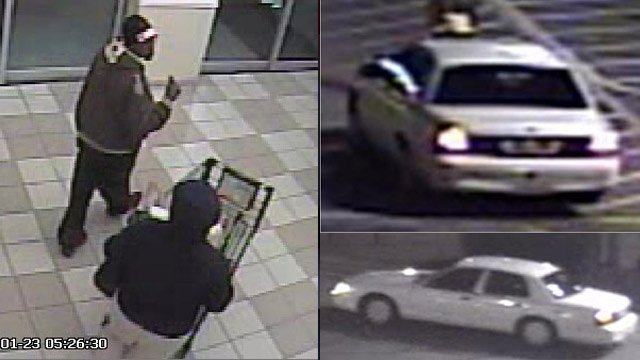 Bi-Lo store surveillance of the man and his car. (Greenville Co. Sheriff's Office)